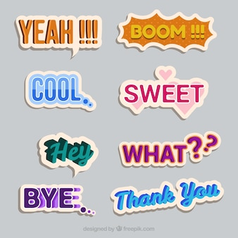 Assortiment vintage stickers stickers