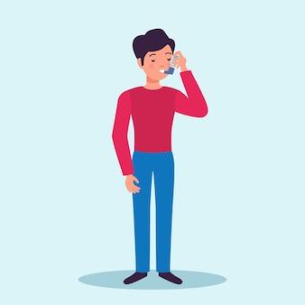 Astmapatiënt houdt snelle symptomen opluchting medicatie inhalator voorkomt aanvallen plat karakter medische reclame