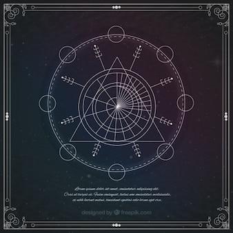 Astrologisch geometrische symbool
