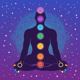 Astrologische sterrenbeelden chakra's concept