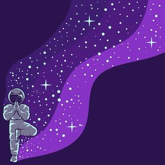 Astronaut die leuke mooie ontwerpillustratie heeft