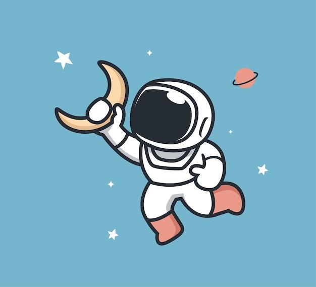 Astronaut en maan