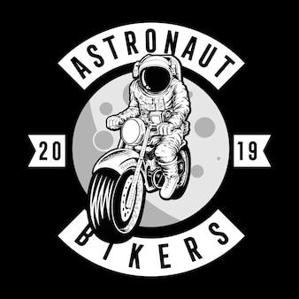 Astronaut fietsers