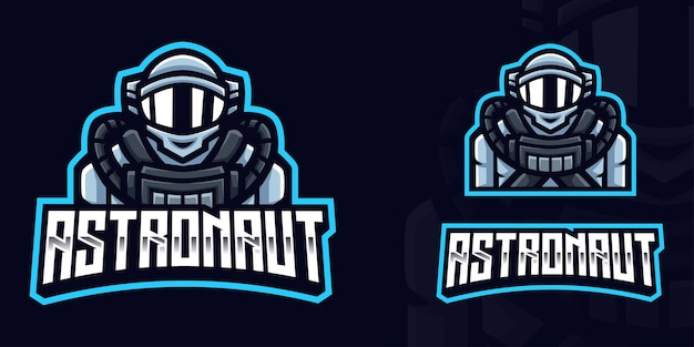 Astronaut gaming logo-sjabloon voor esports streamer facebook youtube
