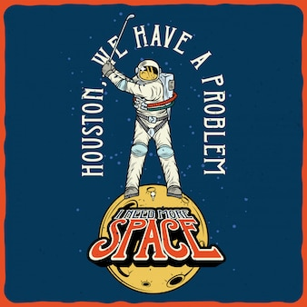 Astronaut golfen