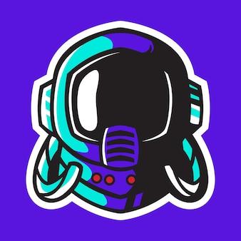 Astronaut helm vector ontwerp
