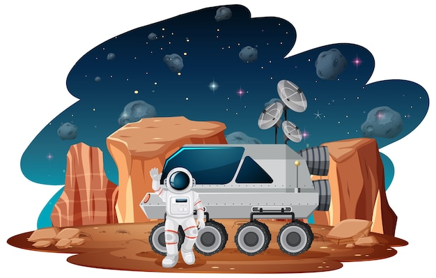 Astronaut in ruimtescène