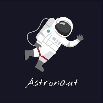 Astronaut in ruimtevector