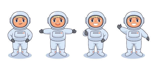 Astronaut kinderen vector illustratie ontwerp