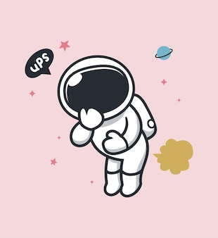 Astronaut laat scheet in de ruimte