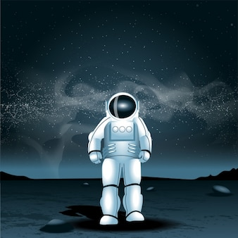 Astronaut op een andere planeet
