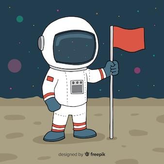 Astronaut op maan achtergrond