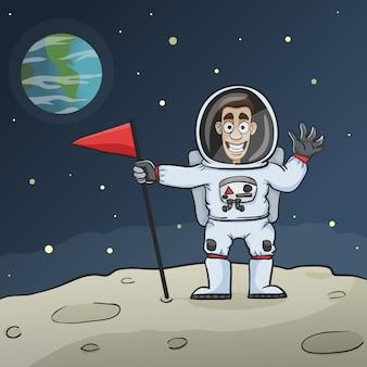 Astronaut op maan