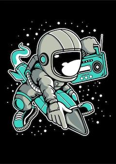 Astronaut raket