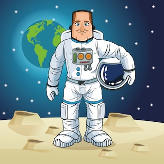 Astronaut ruimte cartoon