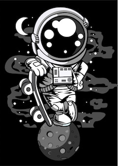 Astronaut skater boy
