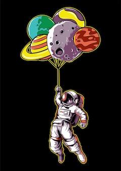 Astronauten en planeten