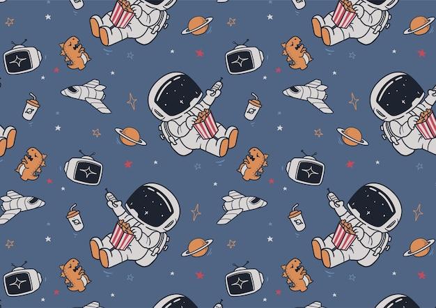 Astronauten en tv-patroon