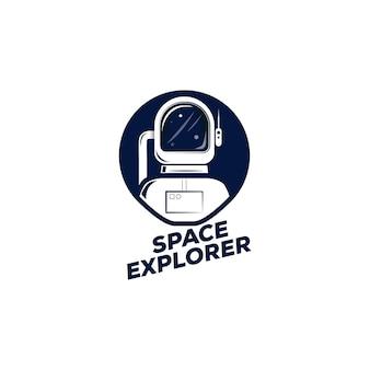 Astronautenhelm en planeten