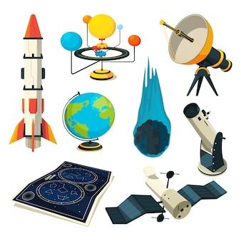 Astronomie-elementen en afbeeldingen