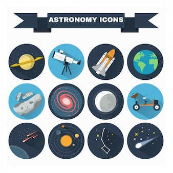 Astronomie iconen collectie