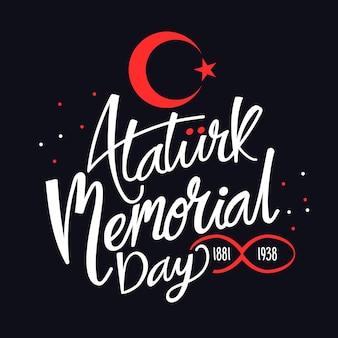 Atatürk herdenkingsdag - belettering