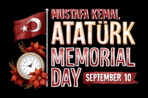 Ataturk herdenkingsdag belettering