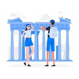 Athene concept illustratie