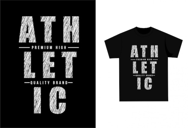 Athletic - grafisch t-shirt om af te drukken
