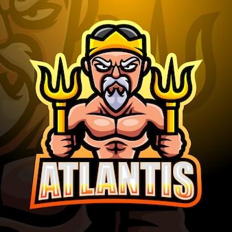 Atlantis mascotte esport illustratie
