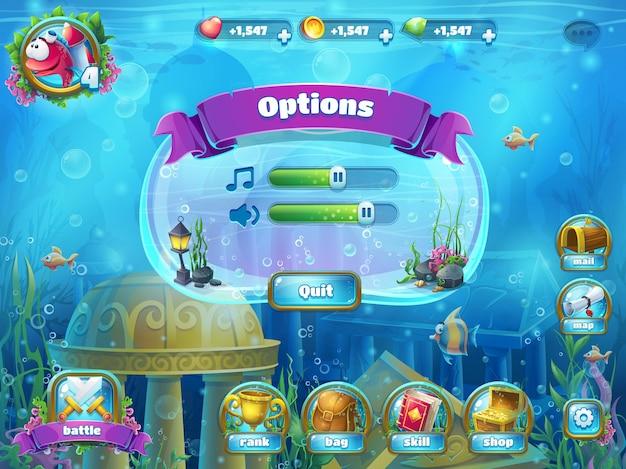 Atlantis ruïneert speelveldillustratie