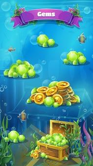 Atlantis ruïnes - vector illustratie mobiele formaat juwelen venster.