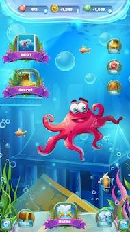 Atlantis-ruïnes - vectorillustratie voor games