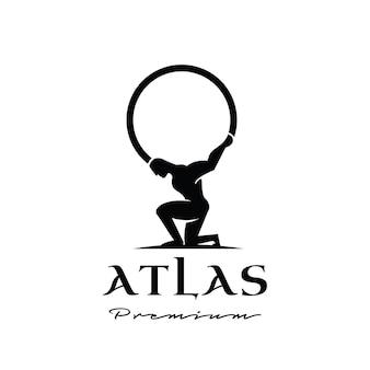 Atlas god premium logo-ontwerp
