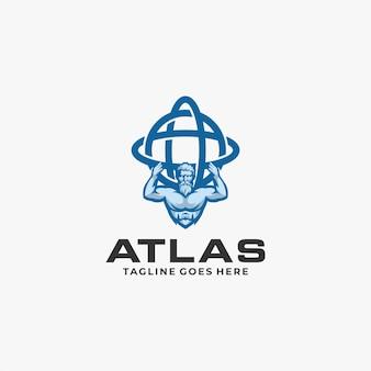 Atlas logo ontwerpsjabloon illustratie