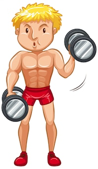 Atleet doet gewichtheffen