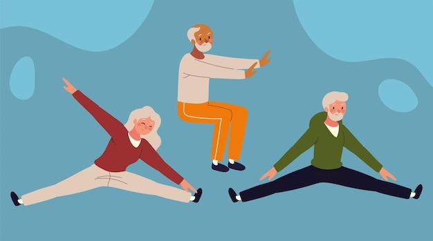 Atleten oude mensen