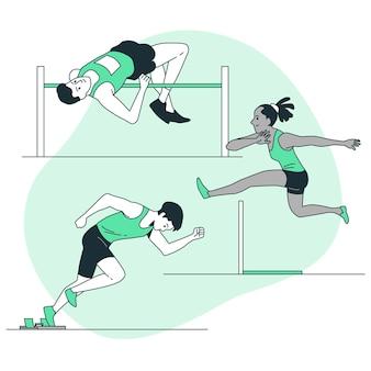 Atletiek concept illustratie