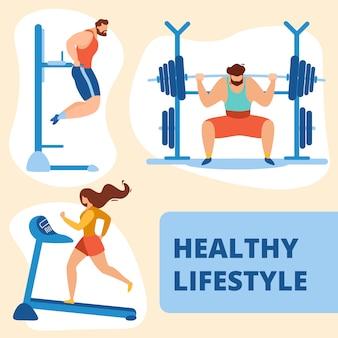 Atletiek sportman en sportvrouw training gym