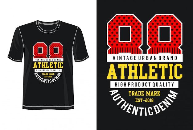 Atletisch t-shirt met typografieontwerp