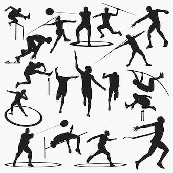 Atletische silhouetten