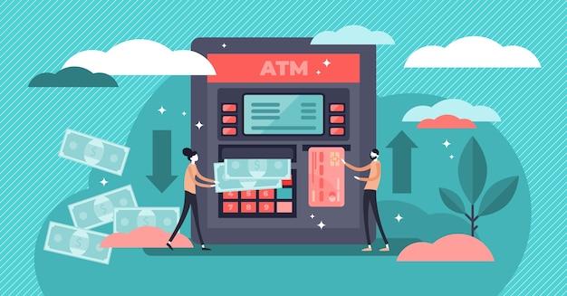 Atm-geldautomaat illustratie.