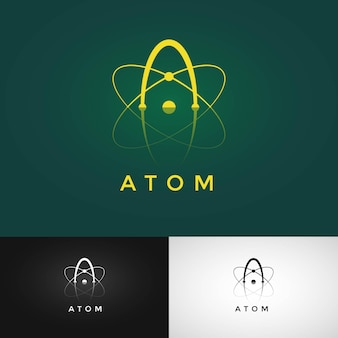 Atom logo ontwerp