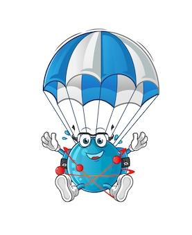 Atom parachutespringen illustratie