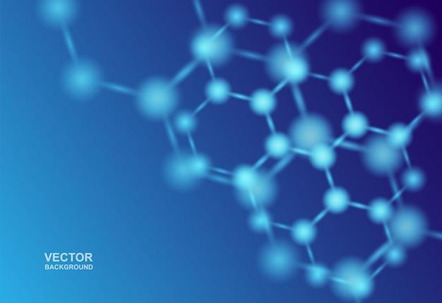 Atomen medische of wetenschappelijke achtergrond.