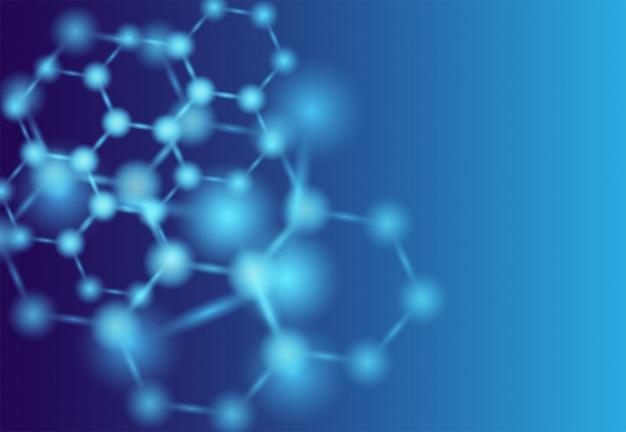 Atomen. medische of wetenschappelijke achtergrond.