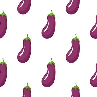 Aubergine naadloze patroon. biologisch vegetarisch eten. gebruikt voor design oppervlakken, stoffen, textiel, verpakkingspapier.