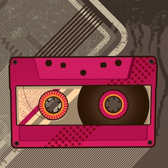Audio cassette illustratie