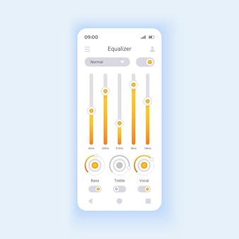 Audiobestanden editor smartphone interface vector sjabloon