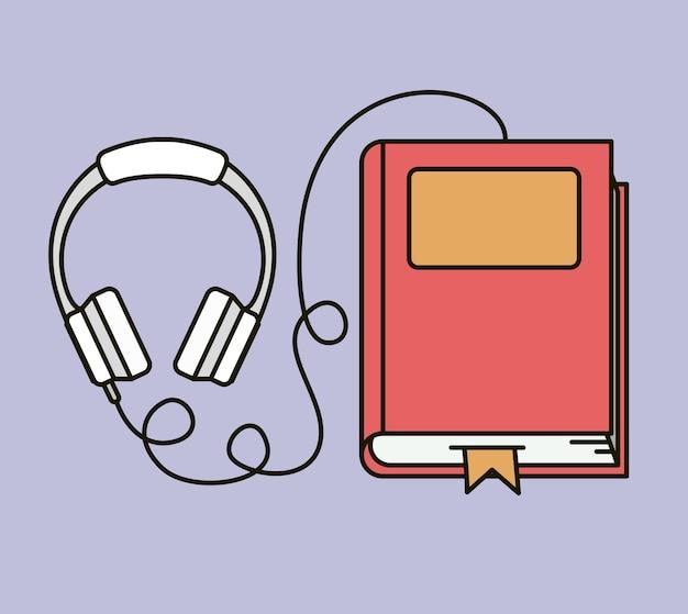 Audioboek geïsoleerd pictogram vector illustratieontwerp
